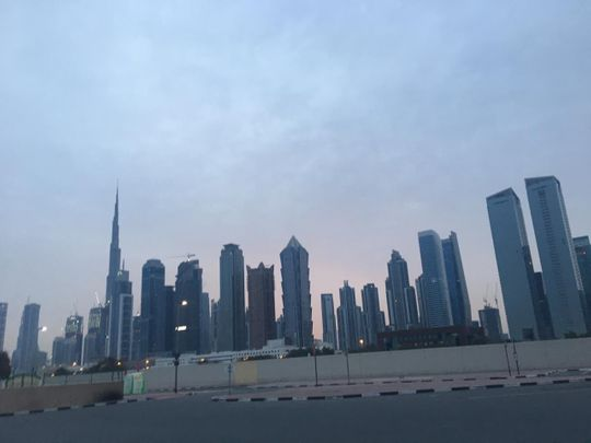 Early morning view of Dubai March