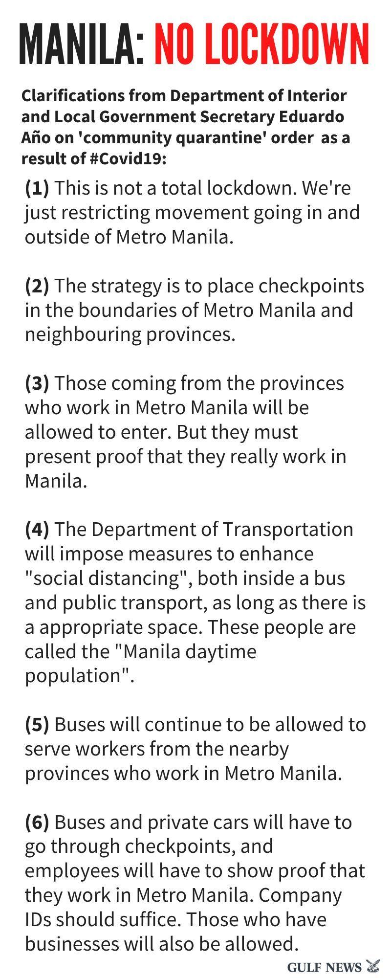 Manila no lockdown