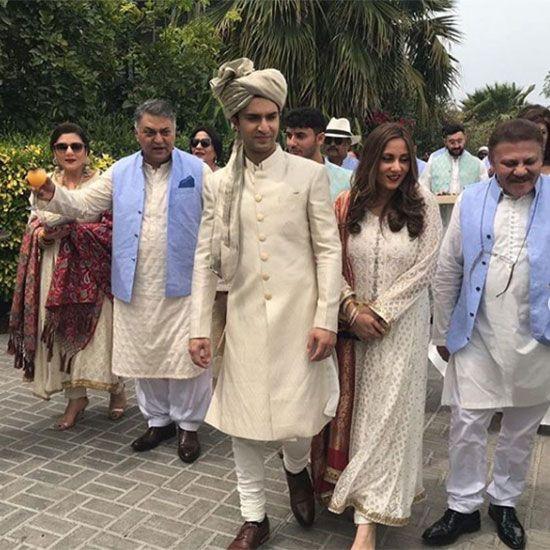 Ahad Raza Mir with his family