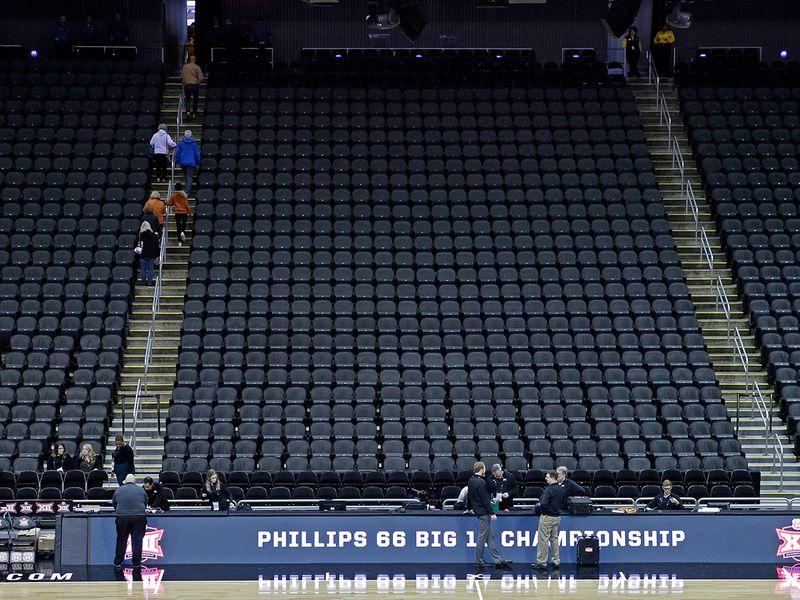 NCAA college basketball games were beginning to fall to the coronavirus