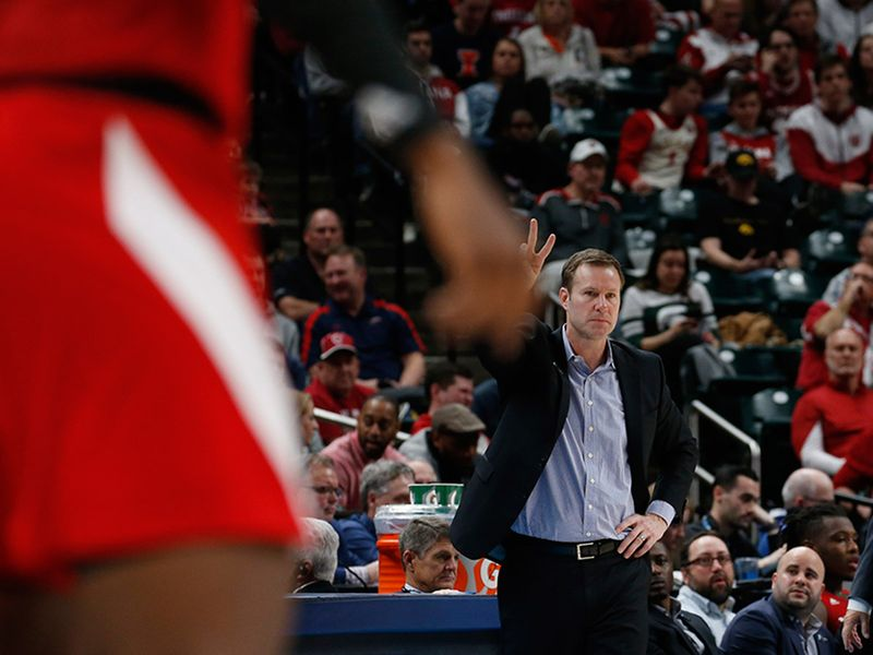 Nebraska Cornhuskers coach Fred Hoiberg left before the game ended due to  illness against the Indiana Hoosiers