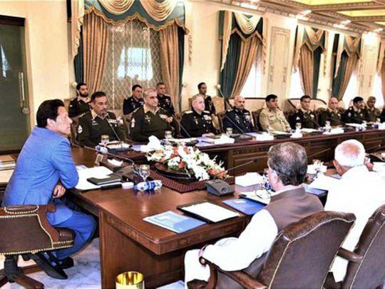 Pakistan National Security Committee meeting
