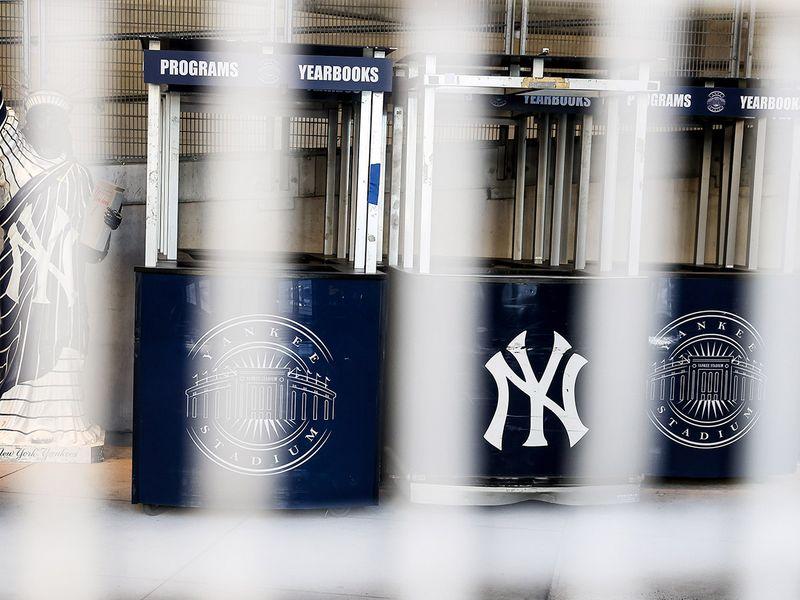 Yankee Stadium is behind locked gates