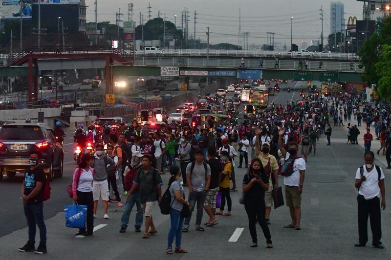 A scene in Manila on Monday