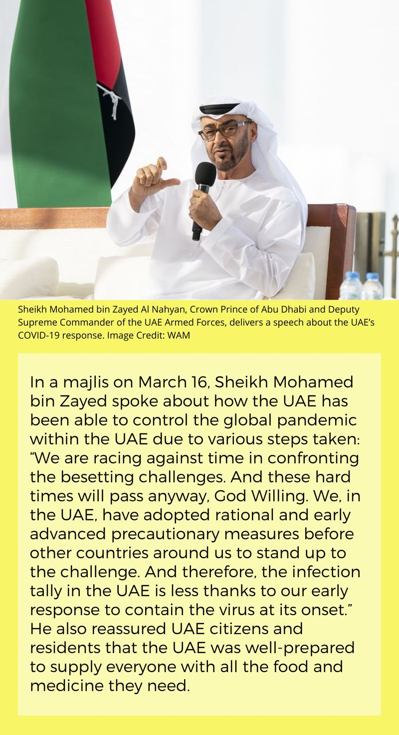Corona UAE measures MBZ majlis