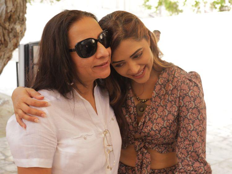 Mamta Mohandas (right) with producer Mini Sarma. Photo courtesy: 7 Media-1584431840399