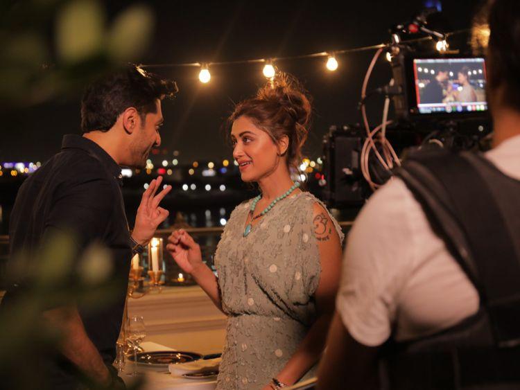 Mamta Mohandas shooting music video in Dubai. Photo courtesy: 7 Media-1584431844585