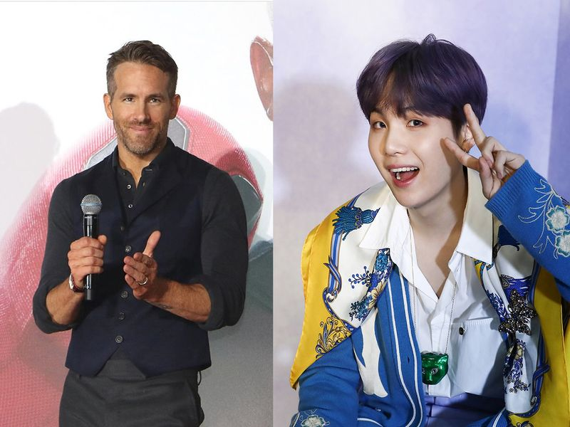 Ryan Reynolds and Suga from BTS
