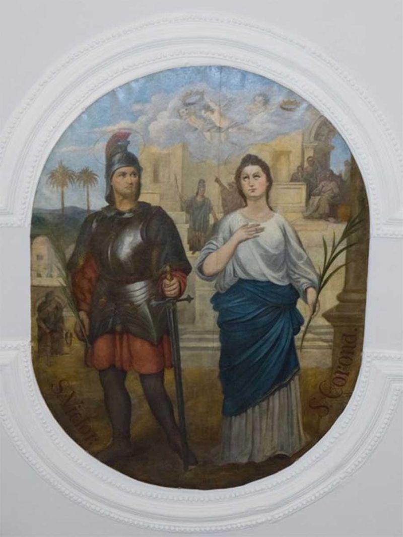 St Victor and St Corona