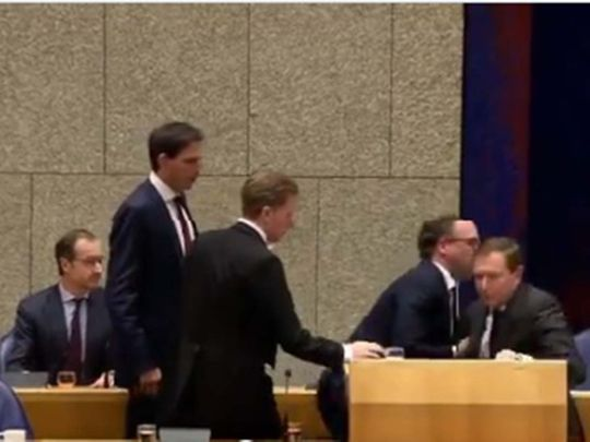 Dutch minister falls