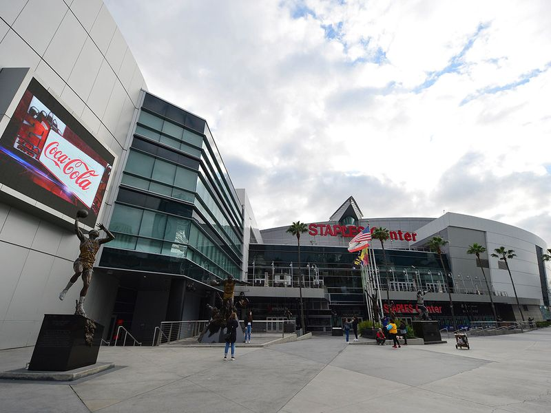 The Staples Centre in Los Angeles is deserted