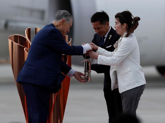 In era of coronavirus, Olympic flame arrives in Japan