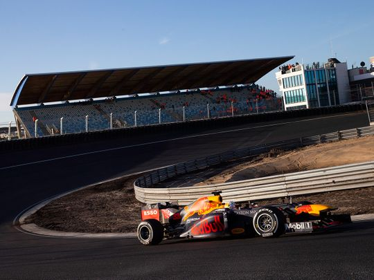 f The Netherlands drives his car through one of the two banked corners during a test and official presentation oTThe Monaco Grand Prix has been added to a growing list of Formula One races to be postponed because of the coronavirus outbreak.