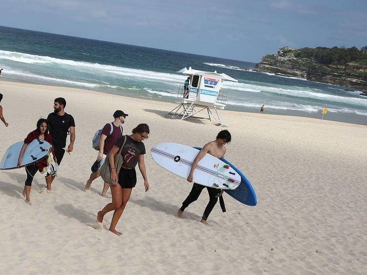 Coronavirus Sydney Police Close Bondi Beach Oceania Gulf News