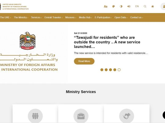 Ministry of Foreign Affairs and International Cooperation website
