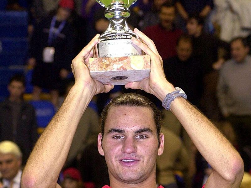 Roger Federer wins in Miami in 2001