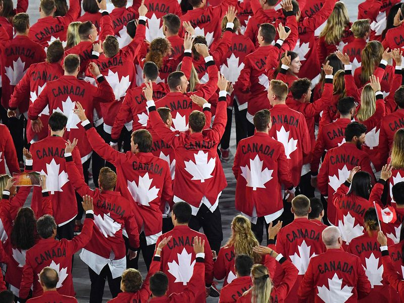 Canada's delegation parade during the opening ceremony of the Rio 2016 Olympic Games