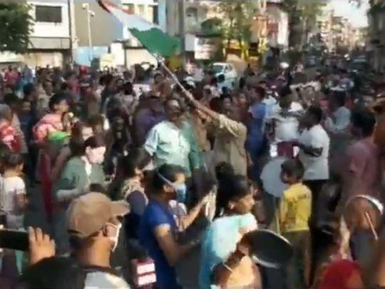 Indians perform Garba dance