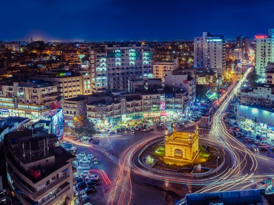 Karachi at night, Shutterstock