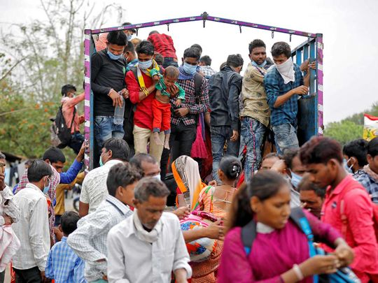 INDIA MIGRANTS LOCKDOWN