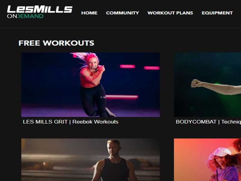 Les Mills free workouts