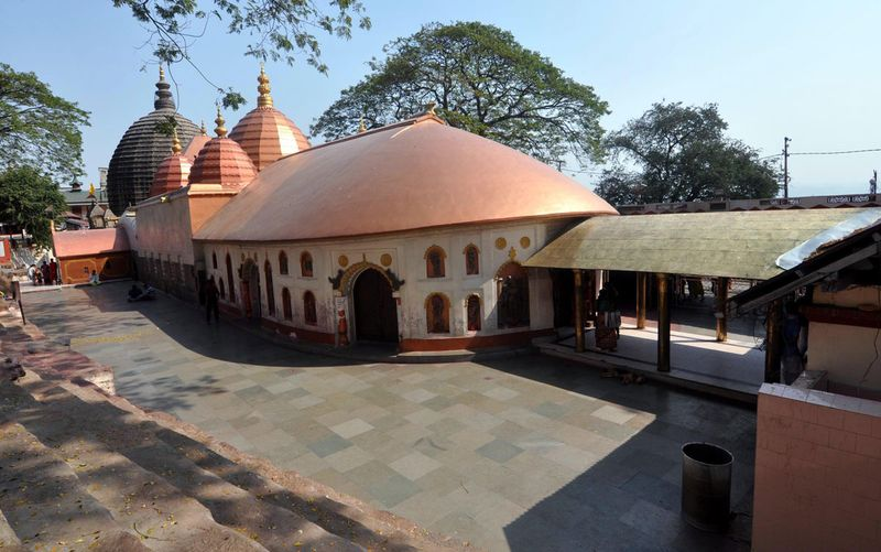 A deserted view of Kamakhya Temple, in Guwahati