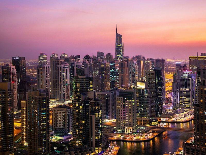 Dubai JBR aerial view