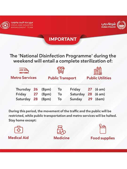 National disinfection programme