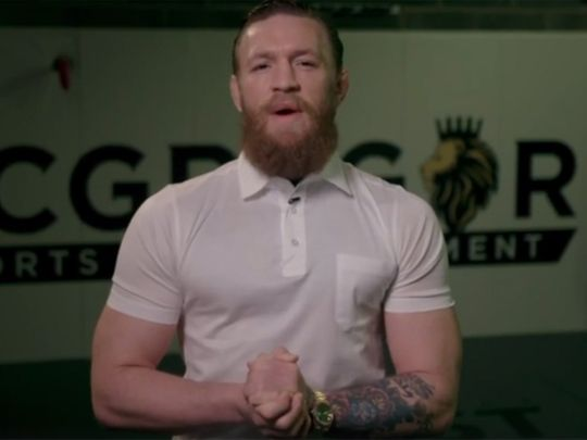 Conor McGregor during his address
