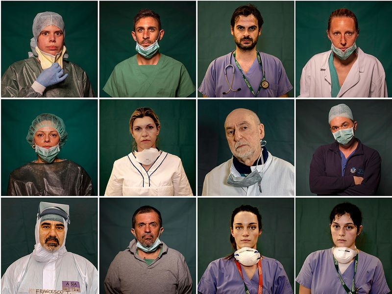 COVID-19: Italy's front-line medical heroes, in portraits