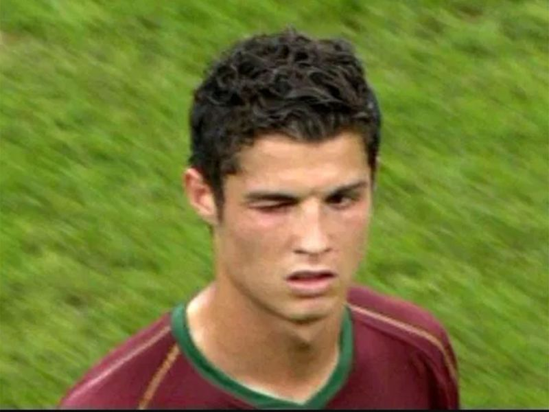 Ronaldo winks after Rooney is sent off for England