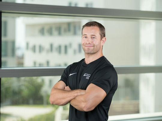 NYU strength and conditioning coach Huw Jones