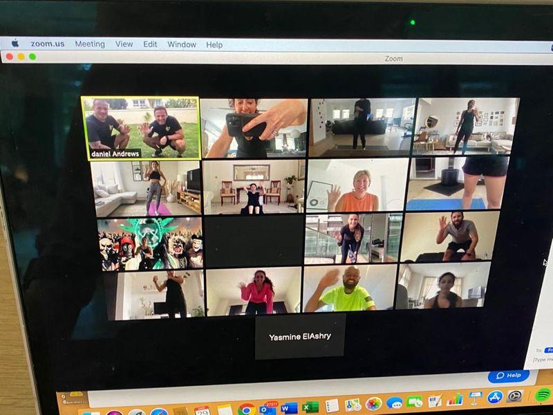 Virtual workout