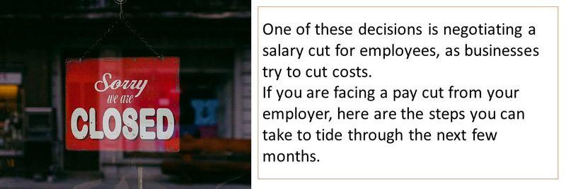 salary cut