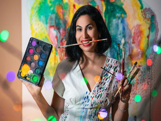 Artist Laila Al Masri