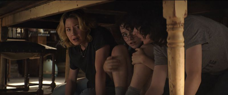 Carrie Coon, Mckenna Grace, and Finn Wolfhard in Ghostbusters Afterlife (2020)-1585633236272