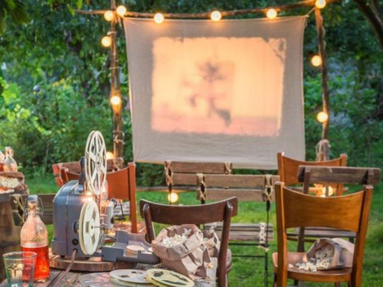 Outdoor movie theatre