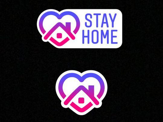 Stay Home - Instagram sticker