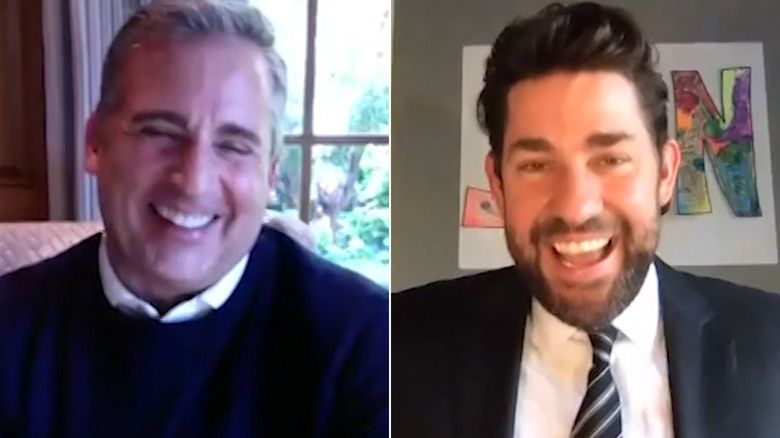 Steve Carell and John Krasinski in 'Office' reunion-1585636270073