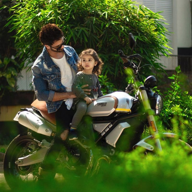 Shahid Kapoor with daughter Missha