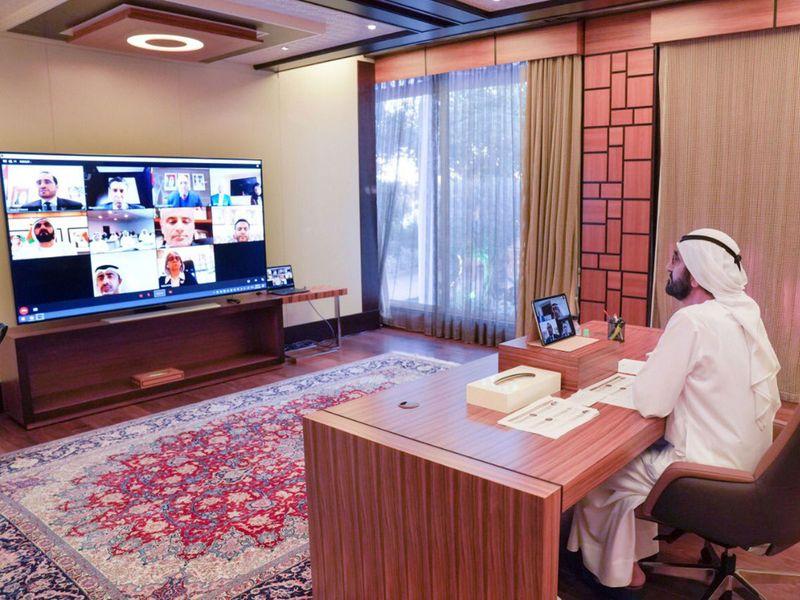 sheikh mohammed bin rashid virtual meeting