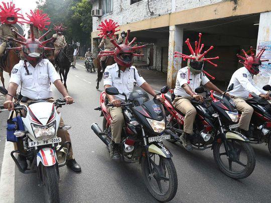 India policemen coronavirus