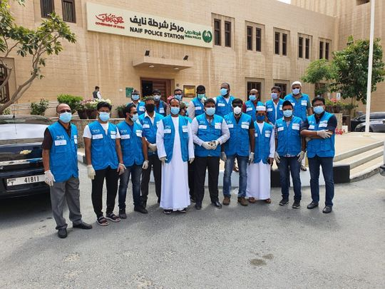 Indian social worker Naseer Vatanappally and other volunteers have been actively involved in community service in Naif for almost two weeks.