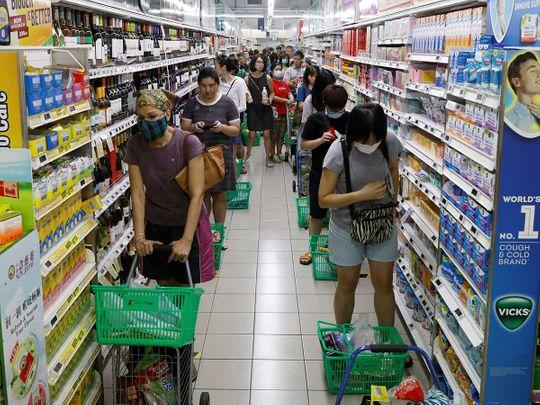 Singapore coronavirus supermarket