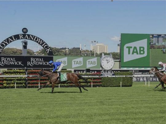 Colette wins the Group 3 Knox Stakes at Royal Randwick