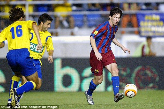 A young Lionel Messi during his junior days with Barcelona