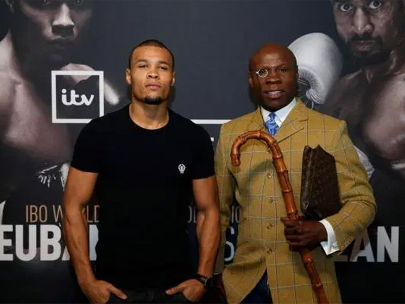 Chris Eubank and his son