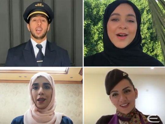 Etihad crew stay at home