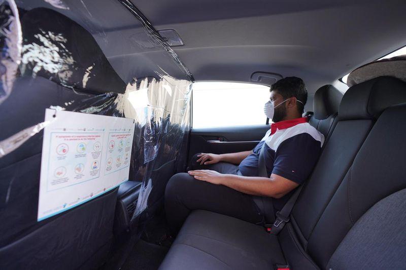COVID precautions Dubai Taxis