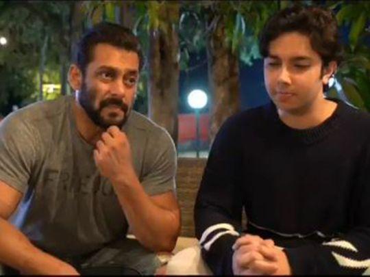 Salman Khan and Nirvaan Khan